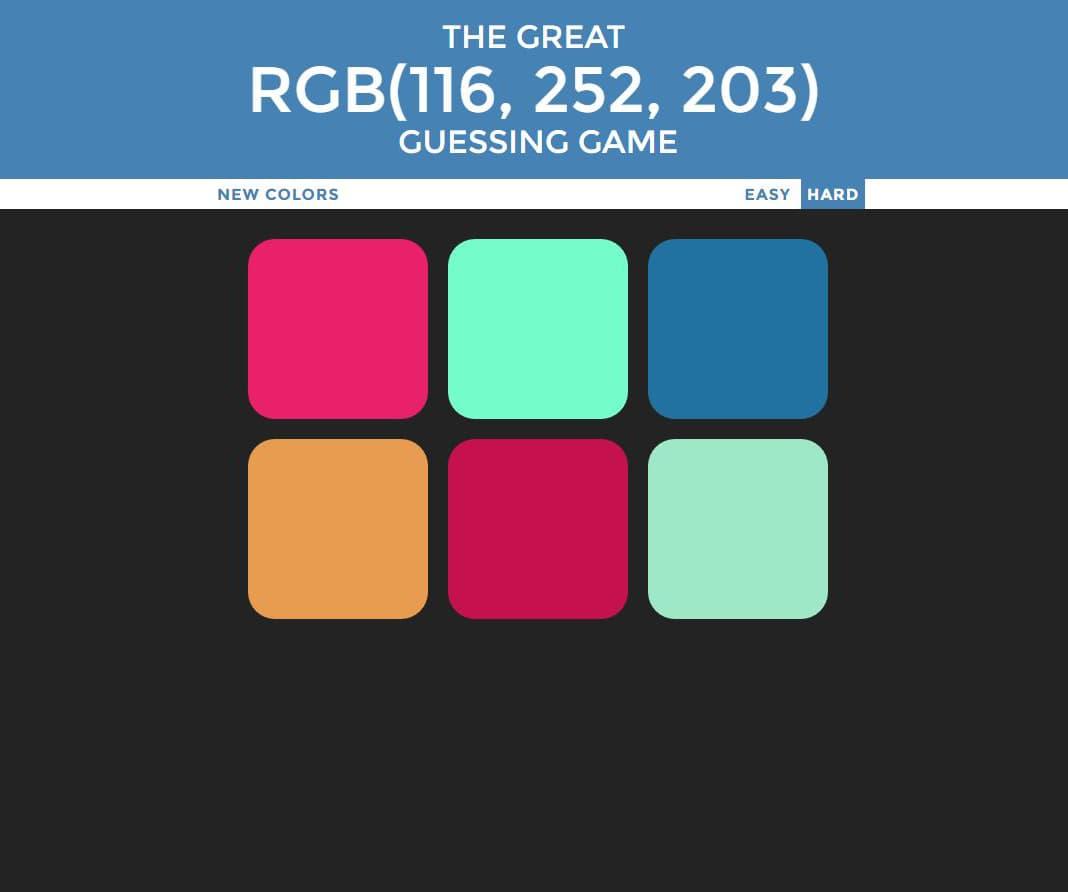 Tomas Ochoa - RGB Color Guessing Game